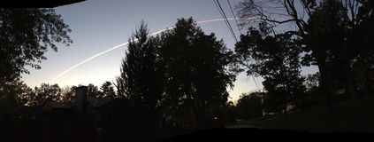 Πύραυλος πέρα από τον ουρανό Στοκ Εικόνες