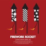 Πύραυλος πυροτεχνημάτων ελεύθερη απεικόνιση δικαιώματος