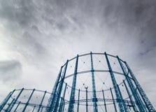 Πύργοι αερίου Στοκ Εικόνες