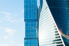 Πύργοι γραφείων από το γυαλί και το meta Στοκ εικόνα με δικαίωμα ελεύθερης χρήσης