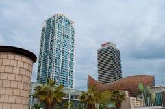 Πύργοι γραφείων στην πόλη της Βαρκελώνης Στοκ εικόνες με δικαίωμα ελεύθερης χρήσης