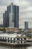 Πύργοι γραφείων της HSBC πέρα από την αποβάθρα στο σημείο Dawes, Σίδνεϊ Αυστραλία Στοκ Εικόνα