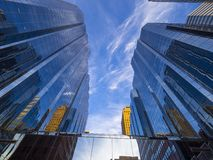 Πύργοι γραφείων Τράπεζας της Αμερικής στη Πόλη της Οκλαχόμα Στοκ φωτογραφία με δικαίωμα ελεύθερης χρήσης