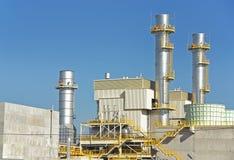 Πύργοι εγκαταστάσεων παραγωγής ενέργειας Στοκ Εικόνα