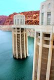 Πύργοι εισαγωγής της Αριζόνα φραγμάτων Hoover Στοκ Εικόνα
