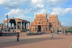 Πύργοι εισόδων στο μεγάλο ναό, Thanjavur, Ινδία Στοκ Εικόνες