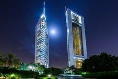 Πύργοι εμιράτων, Ντουμπάι, Ε.Α.Ε. Στοκ Εικόνες