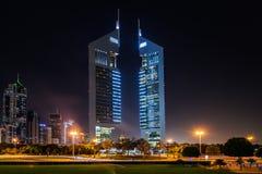 Πύργοι εμιράτων, Ντουμπάι, Ε.Α.Ε. Στοκ Φωτογραφίες