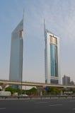 πύργοι εμιράτων του Ντουμπάι Στοκ Φωτογραφίες