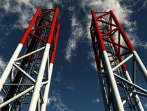 πύργοι επικοινωνιών διανυσματική απεικόνιση