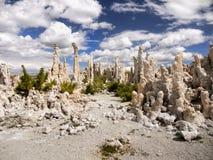 Πύργοι ηφαιστειακών τεφρών, μονο λίμνη, Καλιφόρνια Στοκ Φωτογραφία