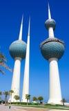 Πύργοι νερού πόλεων του Κουβέιτ Στοκ Φωτογραφίες
