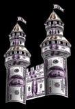 Πύργοι που γίνονται από τα δολάρια Στοκ Φωτογραφίες