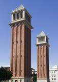 Πύργοι στη Βαρκελώνη, Ισπανία Στοκ εικόνα με δικαίωμα ελεύθερης χρήσης