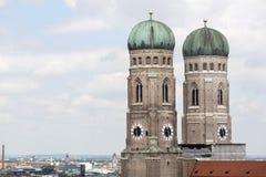 Πύργοι της εκκλησίας της κυρίας μας, Μόναχο Στοκ εικόνα με δικαίωμα ελεύθερης χρήσης