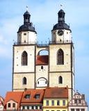 Πύργοι της εκκλησίας του ST Mary, Wittenberg, Γερμανία 04 12 2016 Στοκ εικόνα με δικαίωμα ελεύθερης χρήσης