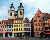 Πύργοι της εκκλησίας του ST Mary, Wittenberg, Γερμανία 04 12 2016 Στοκ εικόνες με δικαίωμα ελεύθερης χρήσης