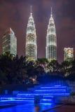 Πύργοι της Κουάλα Λουμπούρ, Μαλαισία Petronas Στοκ Φωτογραφία