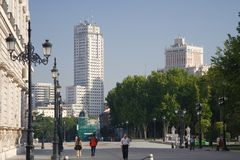 πύργοι της Μαδρίτης Στοκ φωτογραφία με δικαίωμα ελεύθερης χρήσης