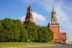 Πύργοι της Μόσχας Κρεμλίνο Στοκ Εικόνες