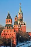 Πύργοι της Μόσχας Κρεμλίνο Στοκ Φωτογραφίες