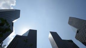 Πύργοι της Σιγκαπούρης Suntec Στοκ φωτογραφία με δικαίωμα ελεύθερης χρήσης