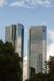 Πύργοι της Deutsche Bank στοκ εικόνα με δικαίωμα ελεύθερης χρήσης