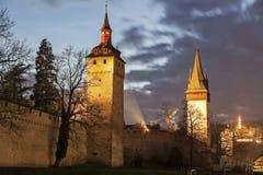 Πύργοι τοίχων πόλεων Στοκ εικόνα με δικαίωμα ελεύθερης χρήσης