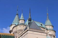 Πύργοι του κάστρου Bojnice, Σλοβακία Στοκ εικόνα με δικαίωμα ελεύθερης χρήσης