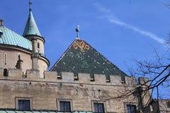 Πύργοι του κάστρου Bojnice, Σλοβακία Στοκ φωτογραφία με δικαίωμα ελεύθερης χρήσης
