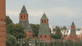 Πύργοι του Κρεμλίνου το καλοκαίρι Μόσχα, Ρωσία απόθεμα βίντεο