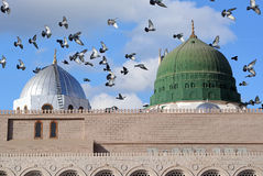 Πύργοι του μουσουλμανικού τεμένους Nabawi Στοκ φωτογραφία με δικαίωμα ελεύθερης χρήσης