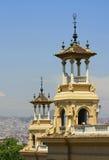 Πύργοι του Παλάου πραγματικοί στη Βαρκελώνη Στοκ Φωτογραφίες