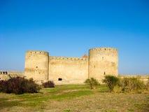 Πύργοι του φρουρίου Akkerman, Ουκρανία Στοκ Εικόνες