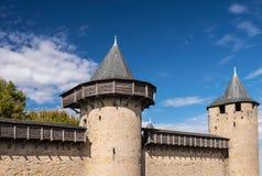 Πύργοι του Carcassonne στοκ φωτογραφία με δικαίωμα ελεύθερης χρήσης