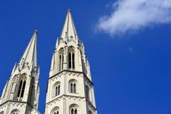 Πύργοι του ST Peter και Paul με το διάσημο όργανο ήλιών του Στοκ Φωτογραφία
