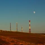 Κυψελοειδείς πύργοι επικοινωνίας στο νησί Olkhon Στοκ εικόνες με δικαίωμα ελεύθερης χρήσης
