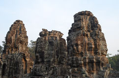 πύργοι angkor bayon thom Στοκ εικόνα με δικαίωμα ελεύθερης χρήσης