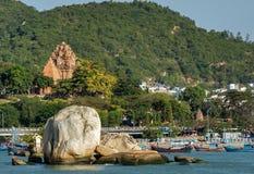 Πύργοι Cham po Nagar Βιετνάμ Στοκ Εικόνες