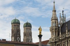 Πύργοι Frauenkirche στο Μόναχο Στοκ Εικόνες