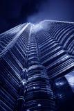 πύργοι petronas νύχτας Στοκ Εικόνα