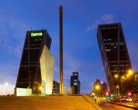 Πύργοι Puerta de Ευρώπη στη Μαδρίτη, Ισπανία Στοκ φωτογραφίες με δικαίωμα ελεύθερης χρήσης