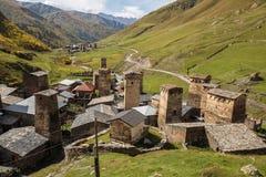 Πύργοι Svan σε Ushguli στοκ φωτογραφίες με δικαίωμα ελεύθερης χρήσης