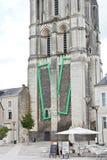 Πύργος Αγίου Aubin - το κουδούνι towert στη Angers Στοκ Εικόνες
