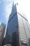 Πύργος αγκραφών (πύργος Willis) στο στο κέντρο της πόλης Σικάγο Ο μπλε ουρανός και ο ήλιος Στοκ Εικόνες