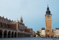 Πύργος αιθουσών πόλεων της Κρακοβίας Στοκ Φωτογραφίες