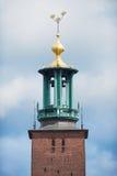 Πύργος αιθουσών πόλεων της Στοκχόλμης Στοκ Εικόνες