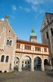 Πύργος αιθουσών πόλεων (Rathaus) και καθεδρικός ναός του Brunswick Στοκ φωτογραφία με δικαίωμα ελεύθερης χρήσης
