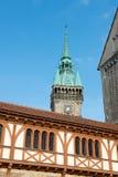 Πύργος αιθουσών πόλεων (Rathaus) και καθεδρικός ναός του Brunswick Στοκ εικόνες με δικαίωμα ελεύθερης χρήσης