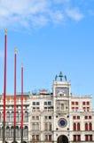 πύργος Βενετία της Ιταλίας ρολογιών Στοκ Εικόνες
